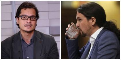 Nacho Torreblanca y Pablo Iglesias.