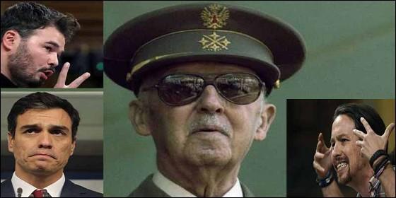 Rufian, Sánchez, Iglesias y otros nostálgicos de Franco.