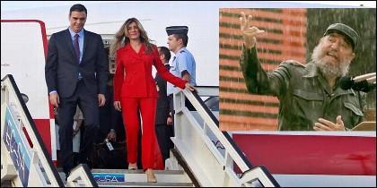 Pedro Sánchez y Begoña Gómez llegan a la Cuba de los Castro.