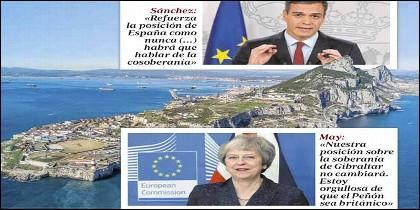 Pedro Sánchez, Theresa May, Gibraltar y la UE.