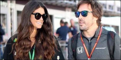 F1; Linda Morselli F1 y Fernando Alonso.