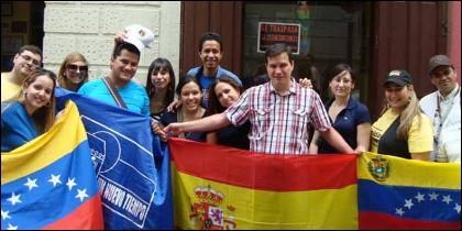 Venezolanos buscan asilo en España.