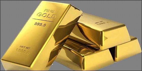 Oro de ley en lingotes.