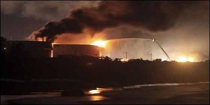 El incendio de la refinería 'El Palito' propiedad de PDVSA