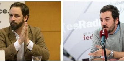 Santiago Abascal y Jorge Bustos.