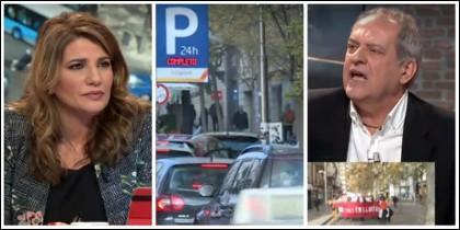 María Claver, el caos en los parkings públicos de Madrid Central y Javier Aroca.