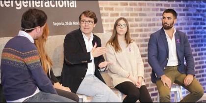 Mañueco en un acto político del Partido Popular en Segovia