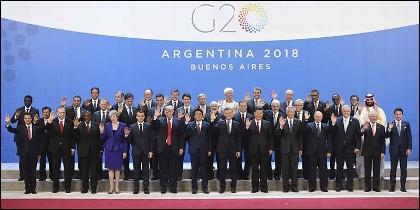 La foto de familia del G20 Argentina (2018).