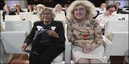 Manuela Carmena y la embajadora de Polonia, Marzenna Adamczyk.