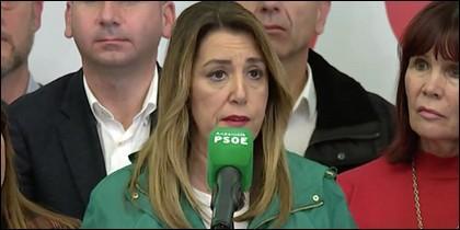 El careto de Susana Díaz tras las elecciones.