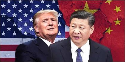Trump (EEUU) y Xi Jinping (CHINA).