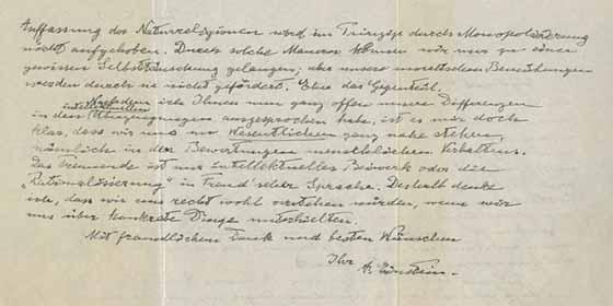 Disponible en subasta el manuscrito de Albert Einstein la