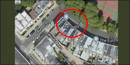 Esvásticas en Google Maps