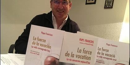 Fernando Prado, en la presentación de su libro