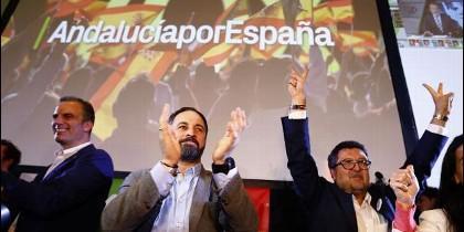 Abascal y dirigentes de VOX en Andalucía.