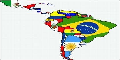 El mapa de América Latina.
