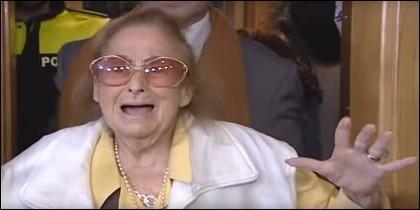 Mery, la mujer de 99 años desahuciada en Pozuelo.
