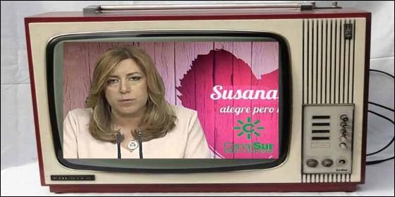 La socialista Susana Díaz y Canal Sur TV.