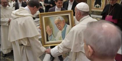 El Papa, con los mercedarios