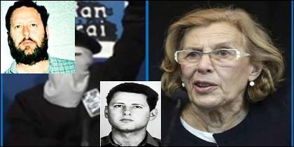 El terrorista García Julia, en una imagnen reciente, y cuando pepetró los asesinatos en el despacho laboralista donde trabajaba Carmena.