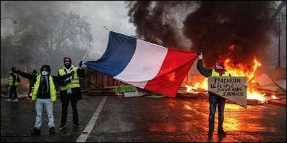 El movimiento de los chalecos amarillos en Francia.