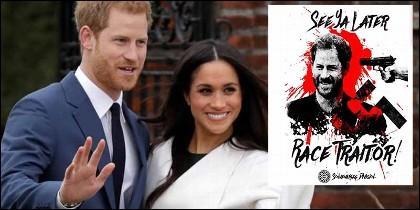 El príncipe Harry con Meghan Markle y la amenaza neonazi.