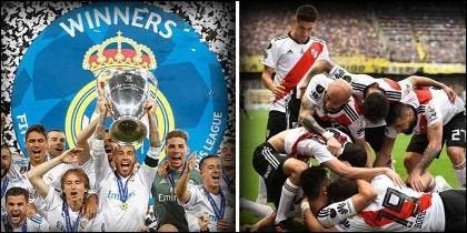 Real Madrid y River Plate.