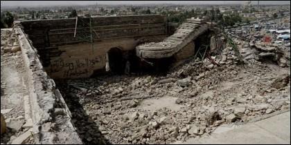 El palacio debajo de la mezquita de Mosul.