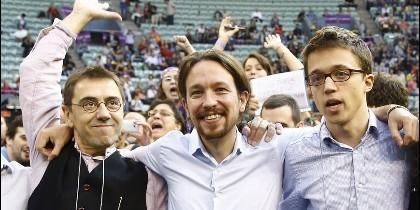 Monedero, Iglesias y Errejón.