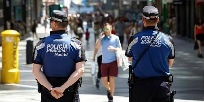 Agentes de la policía municipal
