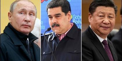 Putin, Maduro y Xi Jinping