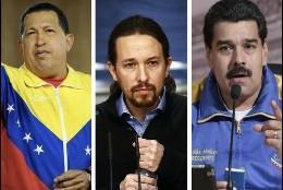 Chávez, Iglesias y Maduro