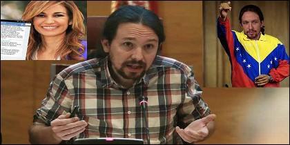 Mariló Montero y el chavista Pablo Iglesias (PODEMOS).