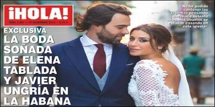 Elena Tablada y Javier Ungría de boda en la portada de 'Hola'.