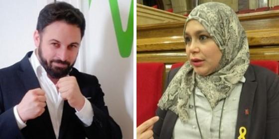 Santiago Abascal (Vox) y Najat Driuoech (ERC)