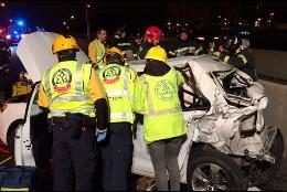 Samur PC rescatando victimas