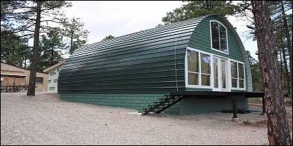 La casa prefabricada de Archedcabins.