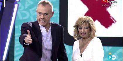 Jordi González y Teresa Campos, durante un programa.