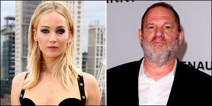 Jennifer Lawrence y Harvey Weinstein