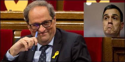 Quim Torra y Pedro Sánchez (PSOE).