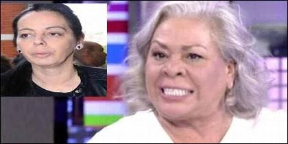 Inma Cuevas, la amante, y Carmen Gaona, la mujer, de Chiquetete.