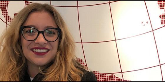 Esther Muñoz, en la sede de Periodista Digital.