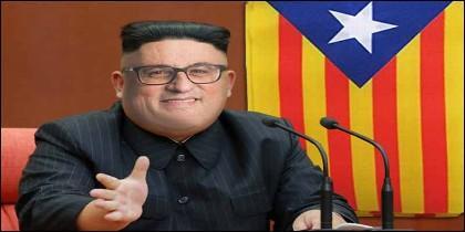Un meme sobre el independentista catalán Quim Jong CHIS-TORRA.