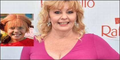Pippi Calzaslargas, cuyo nombre real es Inger Nilsson, antes y ahora.