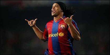 El astro brasileño Ronaldinho.
