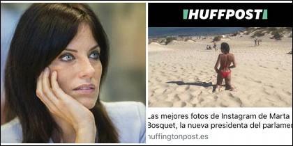 La noticia del HuffPost sobre la nueva presidenta del parlamento andaluz y Cristina Seguí.