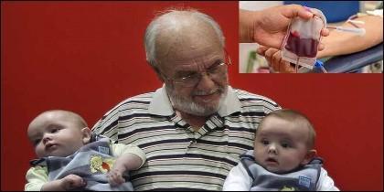 James Harrison, el donante de sangre con el 'brazo de oro'.