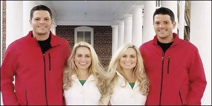 Los gemelos idénticos Josh y Jeremy Salyers y las hermanas gemelas idénticas Brittany y Briana Deane.