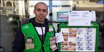 El vendedor de la ONCE Luis Pino Fernández.