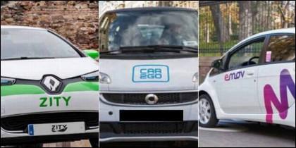 Carsharin: los coches eléctricos de Car2go, Emov o Zity.